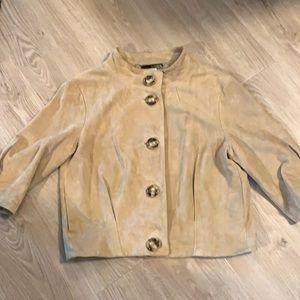 Michael Kors cropped suede jacket